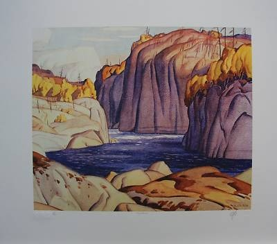 A.J.CASSON group of seven SIGNED Magnetawan