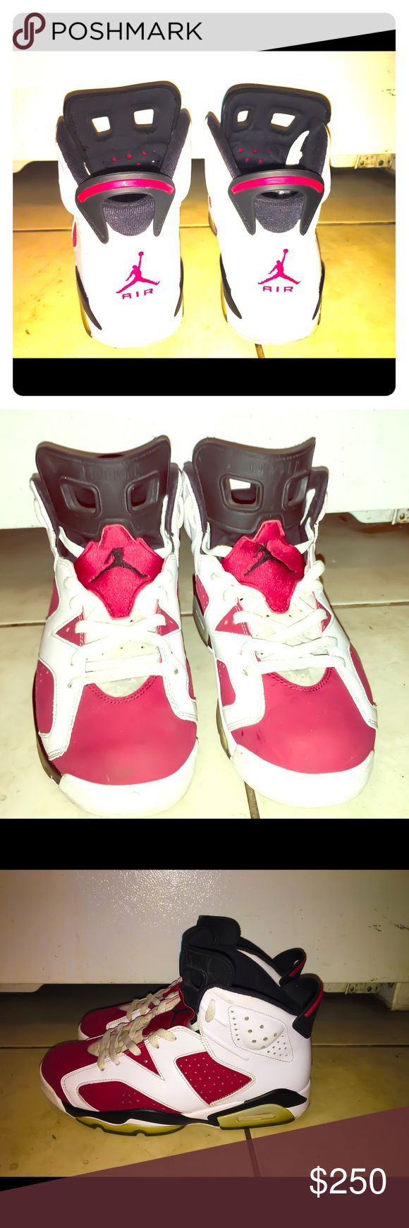 Jordan Retro 6 Carmines (Sz. 9) Jordan Retro 6 Carmine, Size 9. External and Internal in excellent condition. Laces Need A Cleaning. Listing at $250.00. Price Negotiable. Nike Shoes Athletic Shoes