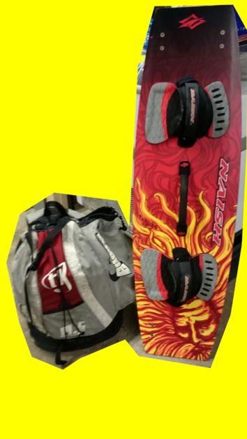 ensemble skysurf planche naish 120x36 avec straps et ailerons + aile skoop3 14.5 (code JL) - SPORTS/PLANCHE SKYSURF - magic-affaires-22