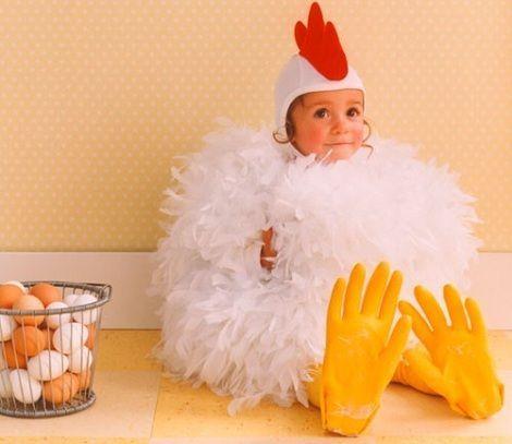disfraz de pollo casero