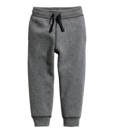 Pantalón de chándal | Gris oscuro jaspeado | Niños | H&M CO