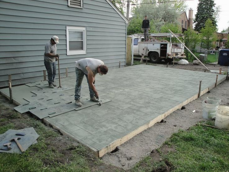 Have Stamped Concrete Patterns In Your Compound Concrete Patio Designs Poured Concrete Patio Concrete Patio Cost