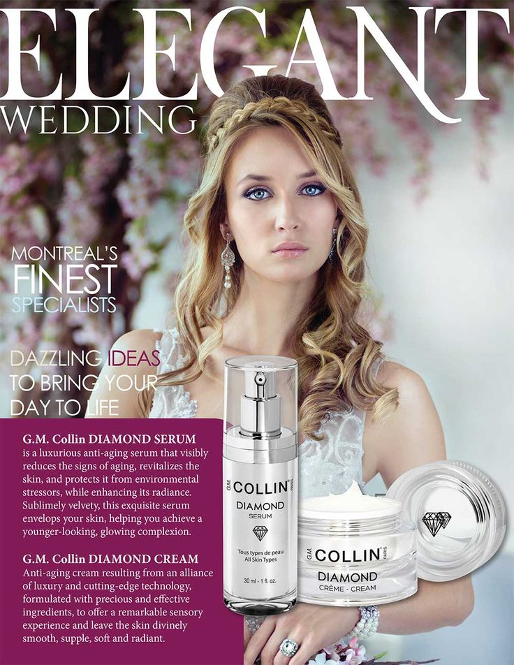 G.M. Collin Diamond Collection in Elegant Wedding Magazine - August 2016 #beauty #cosmetics #skincare #luxury #wedding #perfectskin #diamond #DiamondCollection #GMCollinDiamond #DiamondSerum #DiamondCream #press #pressreview #magazine #ElegantWedding #ElegantWeddingMagazine #gmcollin #gmcollinparis #gmcollinskincare