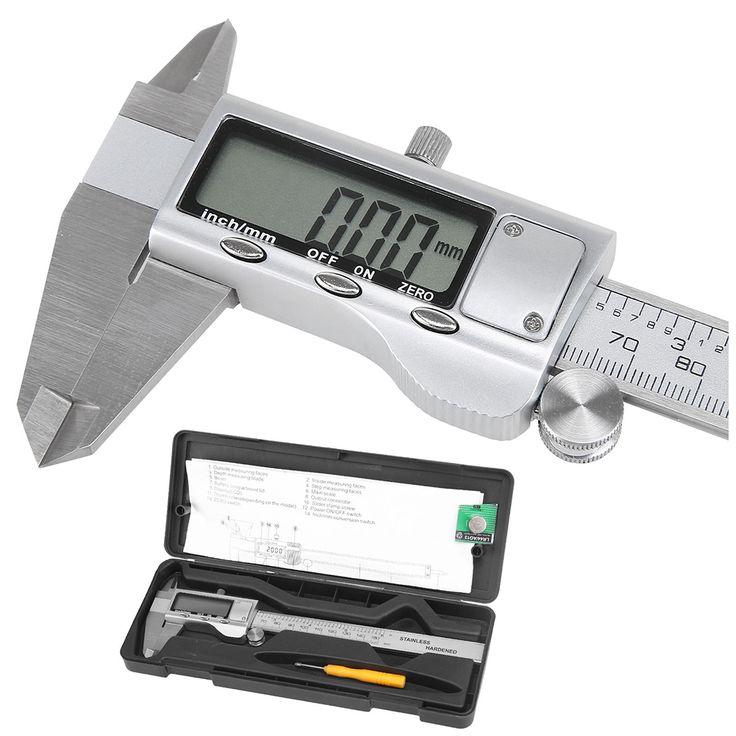"""THGS 150mm 6 """"Digital LCD del Calibrador a Vernier Electrónico Micrómetro de Precisión Herramienta de Plata"""
