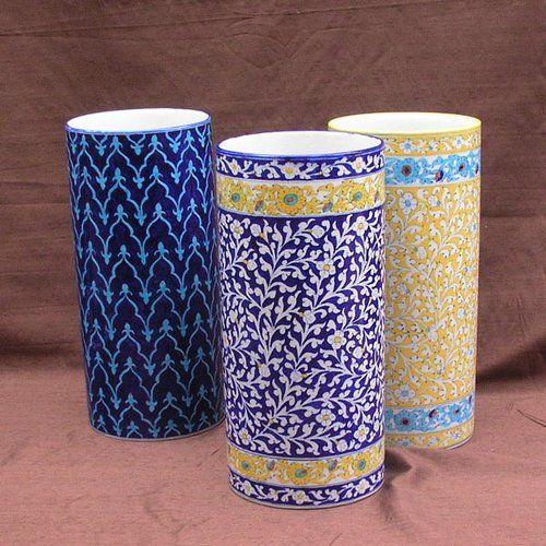 Керамика. Цветочная ваза, цилиндрическая
