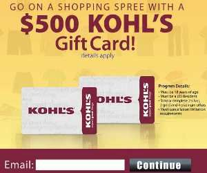Free $500 Kohls Gift Card http://azfreebies.net/free-kohls-gift-card/