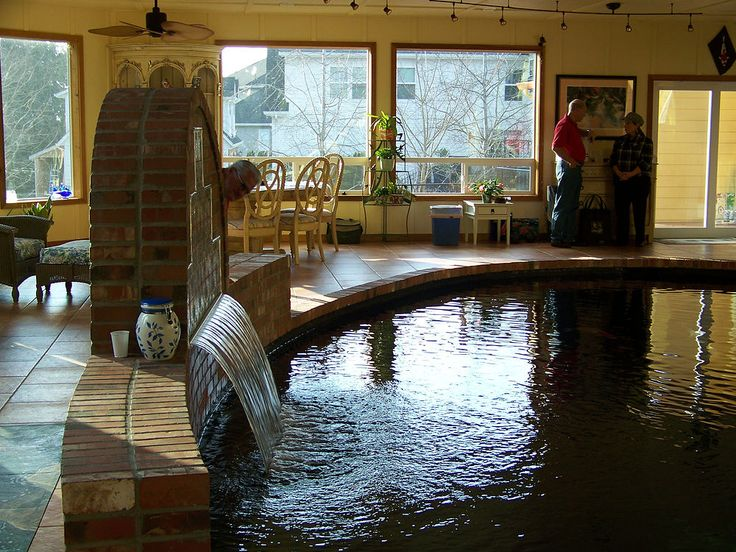 17 best images about indoor koi ponds on pinterest for Indoor koi pool