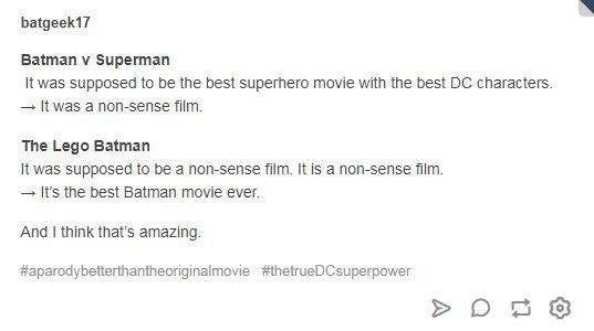 Batman v Superman. The Lego Batman. DC comics movie mp