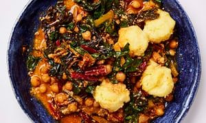 Meera Sodha's vegan recipe for chickpea, chard and sunflower seed stew | Life and style | The Guardian