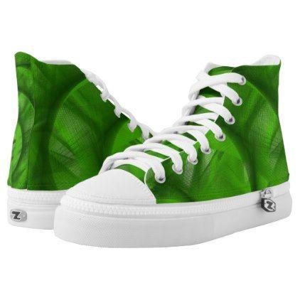 Green Swirl high top tennis shoes - Xmas ChristmasEve Christmas Eve Christmas merry xmas family kids gifts holidays Santa