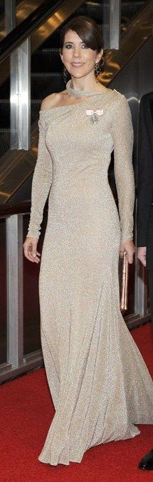 Beautiful  gown, stunning princess Mary of Denmark