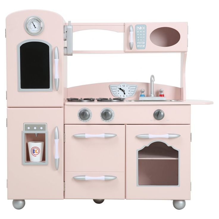 Teamson Kids Wooden Play Kitchen Set Pink - TD-11414P