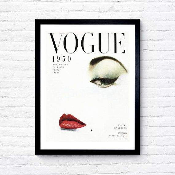 Vogue Cover, More Issues Than Vogue Print, Fashion Print, Wall Art, Vogue Print…