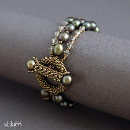Olive Berries Bracelet by shila66 on Etsy, $70.65