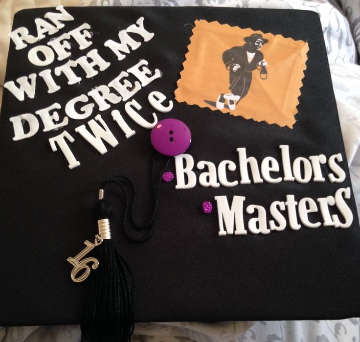 @Southerndiva33's I ran off with my degree twice UNT bachelors masters grad cap