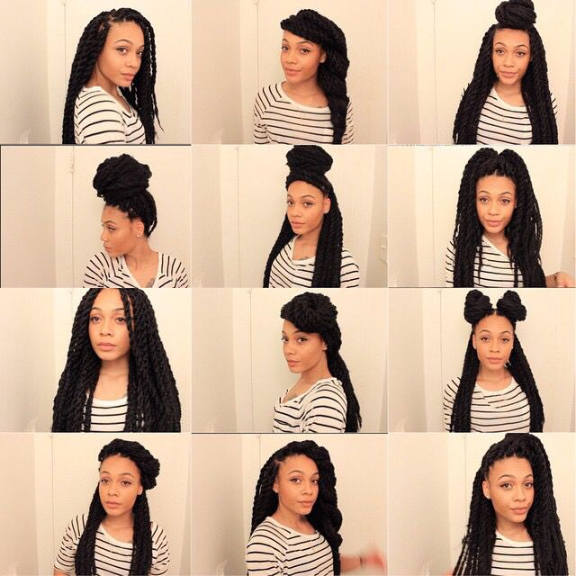 Havana/Marley Twists Hairstyles || Natural Hair Protective Style   http://youtu.be/36iSSrKAjBI