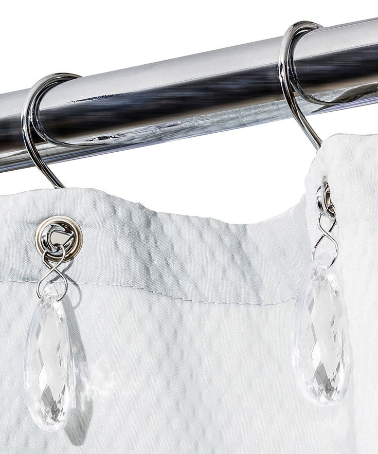 Chrome Chandelier Shower Curtain Hook   Set Of 12