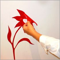 Decorate your area with contemporary wall decals.