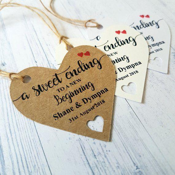 10 Large Brown 'With Love/' Gift TagsWedding Birthday Christmas Handmade