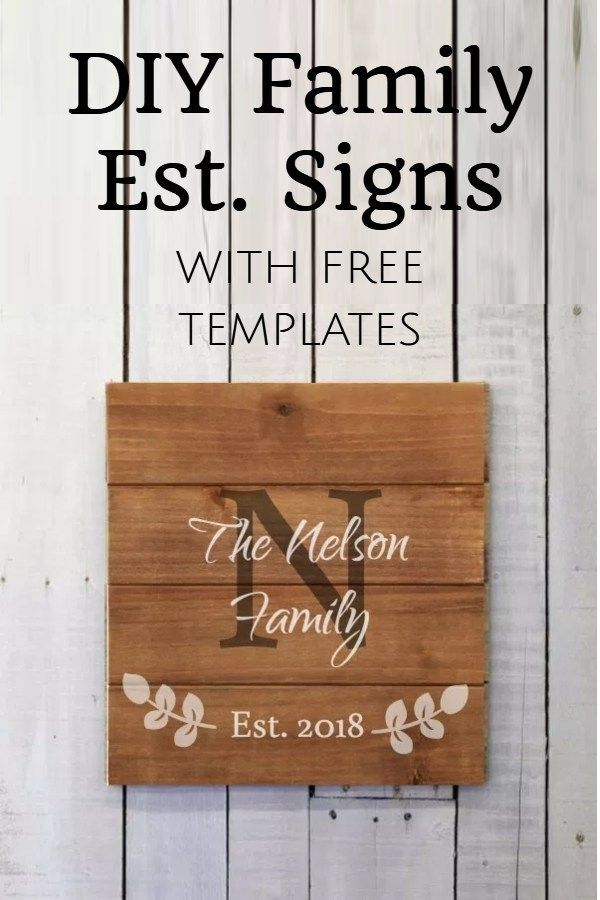 Easy Diy Family Established Signs Domestic Heights Family Established Sign Diy Family Signs Diy Established Signs Diy