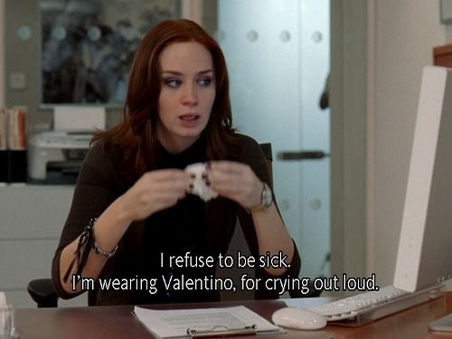Emily Blunt as Emily Charlton in The Devil Wears Prada | in Valentino