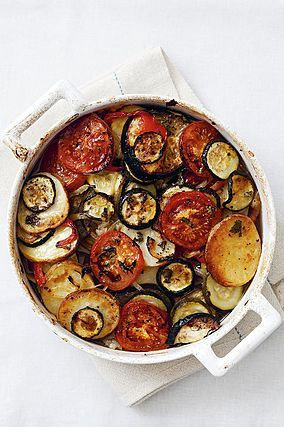 Greek Vegetable Bake by Rebecca Seal and other Easy Vegetarian Recipes from ChopandChuck.co