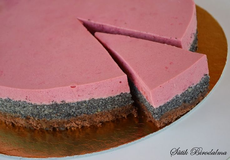 SÜTIK BIRODALMA: Málnás mákos mousse torta / Raspberry - poppy seed mousse cake