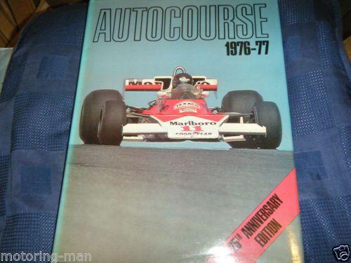 AUTOCOURSE-1976-77-EXCEPTIONAL-JAMES-HUNT-MCLAREN-NIKI-LAUDA-FERRARI-312-PACE-F1