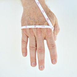 How to measure your hand for a custom knit gloves or Mittens