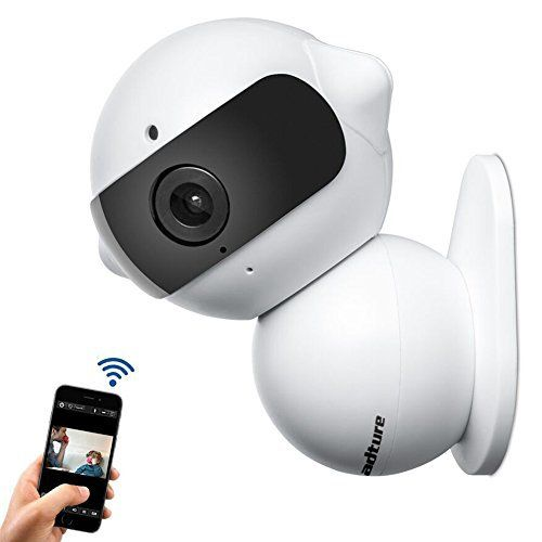 Wireless IP Camera, Fuleadture Mini Robot Home Security Surveillance WiFi Camera & HD Carcorder with Microphone for Baby Video Monitoring - White - Evanino.com