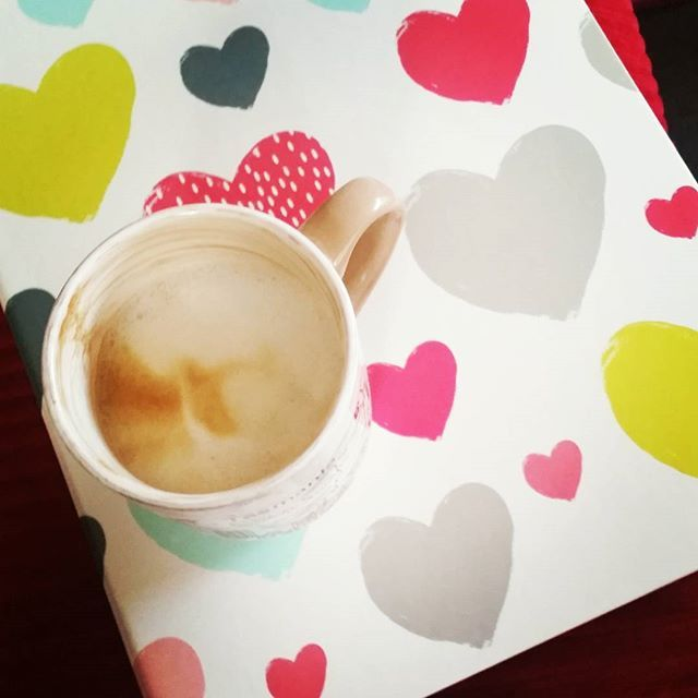 #mondaymorning #coffee and new binder to keep all of my blogging work organised  #hearts #officeworks #blogging #blogplanner #wellnessblogger #soapblogger #organized #organised