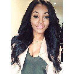 SHARE & Get it FREE | Elegant Synthetic Black Long Middle Part Wavy Wig For WomenFor Fashion Lovers only:80,000+ Items • FREE SHIPPING Join Nastydress: Get YOUR $50 NOW!