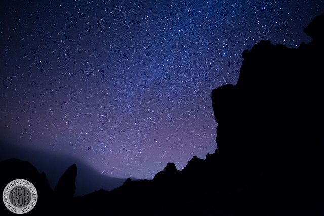 Photographing the stars up on Mt Teide, Tenerife