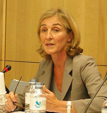 """Diplômée de HEC et de l'ENA, Isabelle Falque-Pierrotin entre au Conseil d'Etat en 1986.(...). En février 2009, elle devient vice-présidente de la Commission nationale de l'informatique et des libertés (CNIL), puis présidente en 2011. La CNIL est chargée de """"veiller à ce que le développement des nouvelles technologies ne porte atteinte ni à l'identité humaine, ni aux droits de l'homme, ni à la vie privée, ni aux libertés individuelles ou publiques""""."""