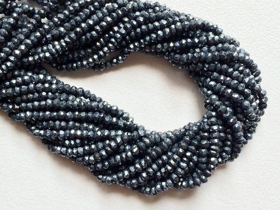 Silver Black Spinel Mystic Coated Silver Black by gemsforjewels