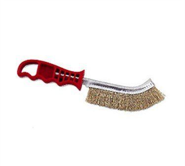 Browne Foodservice 4203 Plastic Handled Broiler/Grill Brush, 11-Inch by Browne Foodservice. $9.00. Grill will last longer if cleaned regularly. Keeps maintenance costs down. 11-inch length. Those stiff bristles are ready to take on any leftover burnt remnants from your last grilling session.. 5-inch handle is ergonomic. Keep your grill clean and even-heating with this plastic handled broiler/grill brush with stiff brass wire bristles.