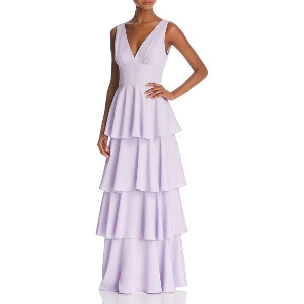 Nicole Miller New York Sleeveless Tiered Gown 100 Exclusive 224