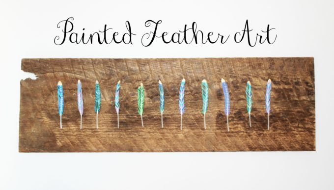Painted Feather Art