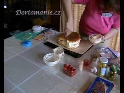 Ivana Egrtová - krátká verze výroby slaného dortu - YouTube