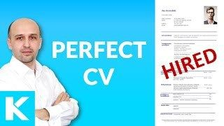 Perfect CV / resume  examples discussed  Lots of TIPS lay-out wording structre