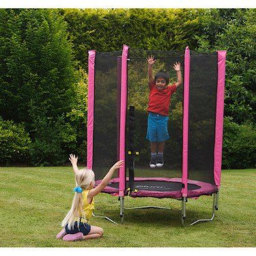 #PopularKidsToys Just Added In New Toys In Store!Read The Full Description & Reviews Here - Plum Products Junior Trampoline and Enclosure (Pink) - Plum® Junior Trampoline and Enclosure- Pink Children will have lots of fun and exercise on this fantastic  Plum® Junior Trampoline and Enclosure. This trampoline will help children bounce off all their energy as well as help improve their physical development by increasing co-ordination, balance and strength. Supplied with an enc