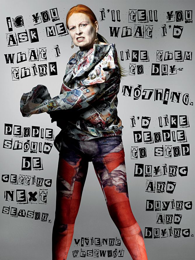 Here's Vivienne Westwood, the woman who introduced the world to punk rock fashion, with a Christmas message. Naughty Viv! She forgot to wear her knickers to Buckingham Palace when Queen Liz made her a Dame. I guess she was forgiven for creating those t-shirts of Her Majesty with a safety pin through her lips.