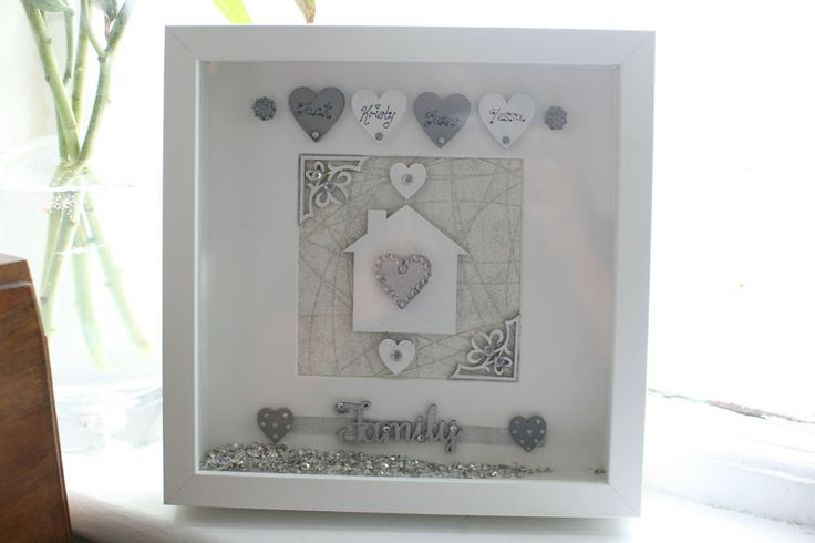 Personalised Family Deep Box Picture Frame New Home Wedding Christmas Gift by Personal Touches