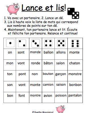 Jeux SANS préparation. Parfait pour les ateliers pour la pratique de mots usuels!