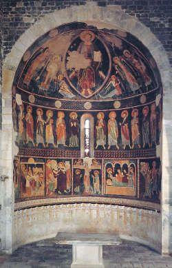 Codrongianos (Sassari, Italia) -  Basilica della Santissima Trinità di Saccargia - Nell'abside centrale si conserva un importante ciclo di affreschi che viene riportato alla scuola toscana della fine del XII secolo.