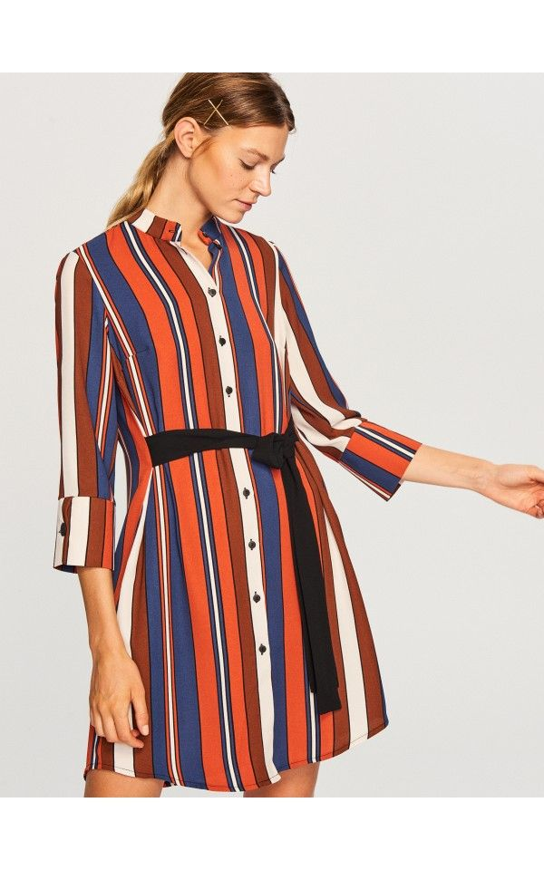 Sukienka W Paski Sukienki Kombinezony Wielobarwn Reserved Striped Dress Dresses Fashion