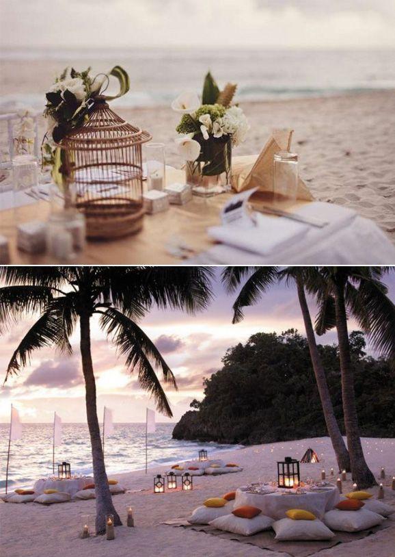 si eres un romántico y quieres una boda íntima en la playa aquí tienes una de muchas  formas originales de hacer del día B un momento único