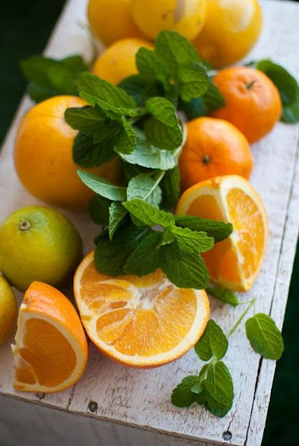 .Oranges et menthe