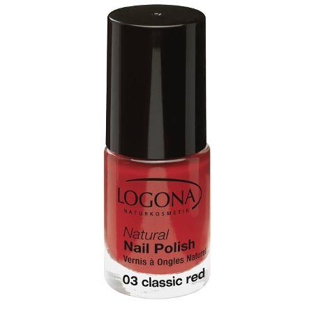 Logona: Natural Nail Nagellack (4 ml): Logona: Farbe: Nagellack 03 classic red