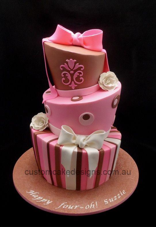 Topsy Turvy Madhatter 40th cake